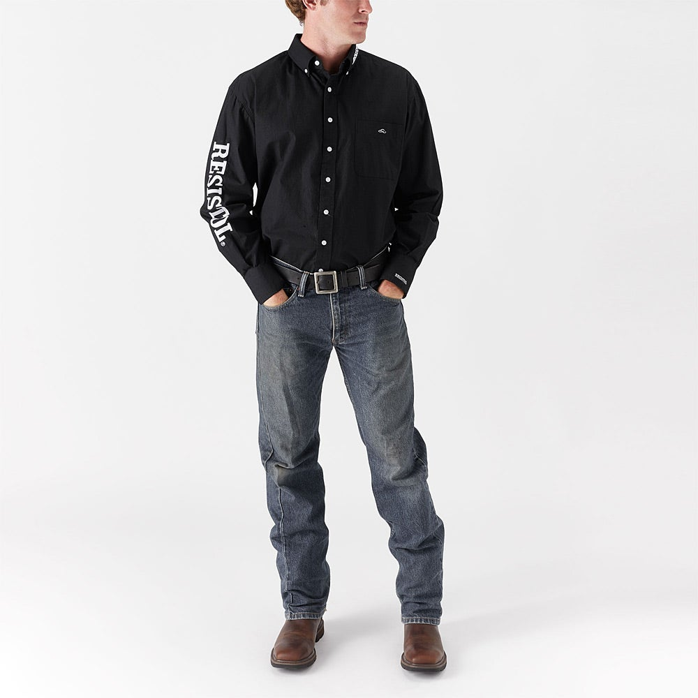 4e78bbfa Resistol Men's Western Logo Button Down Shirt - Riding Warehouse
