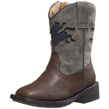d56cdfcc787 Roper Youth Kids Buckin Bronc Square Toe Cowboy Boots - Riding Warehouse