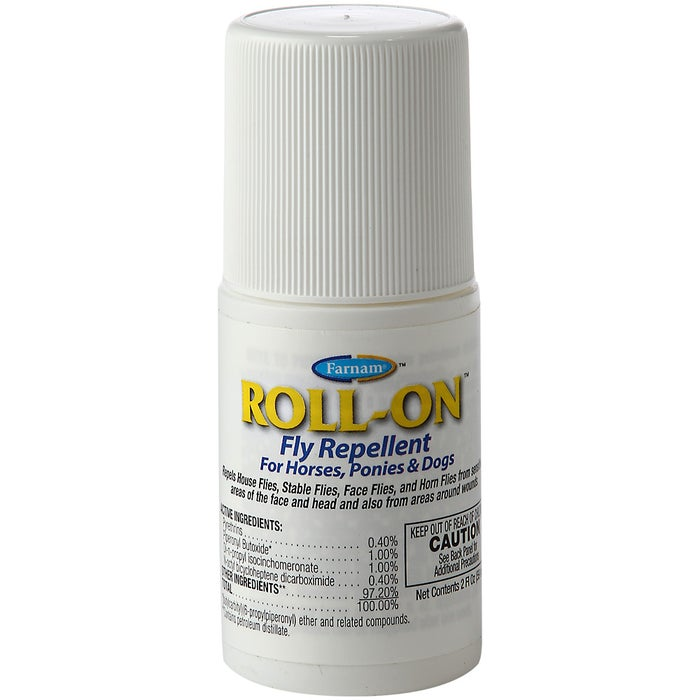 Farnam Roll-On Horse & Dog Fly Repellent 2 oz - Riding Warehouse