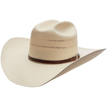 Resistol Range T George Strait 10X Straw Cowboy Hat - Riding Warehouse 84dd68fd20f