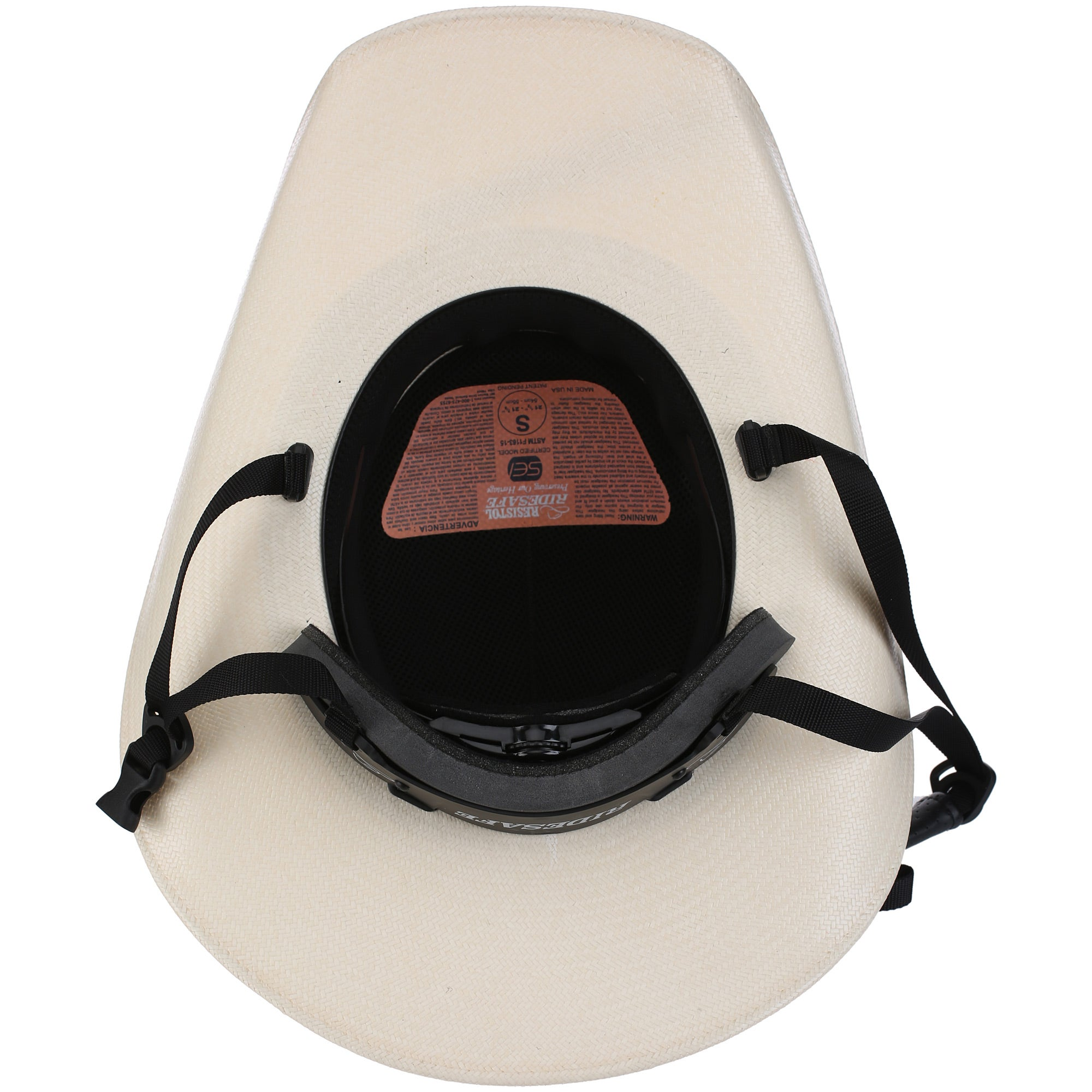d2a20c1a360 Resistol RideSafe Western Straw Cowboy Hat Helmet - Riding Warehouse