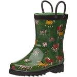 Smoky Mountain Childrens Farm Animal Rubber Rain Boots
