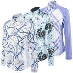 SanSoleil SolTek UPF 50 Mock Neck Zip Long Sleeve Shirt