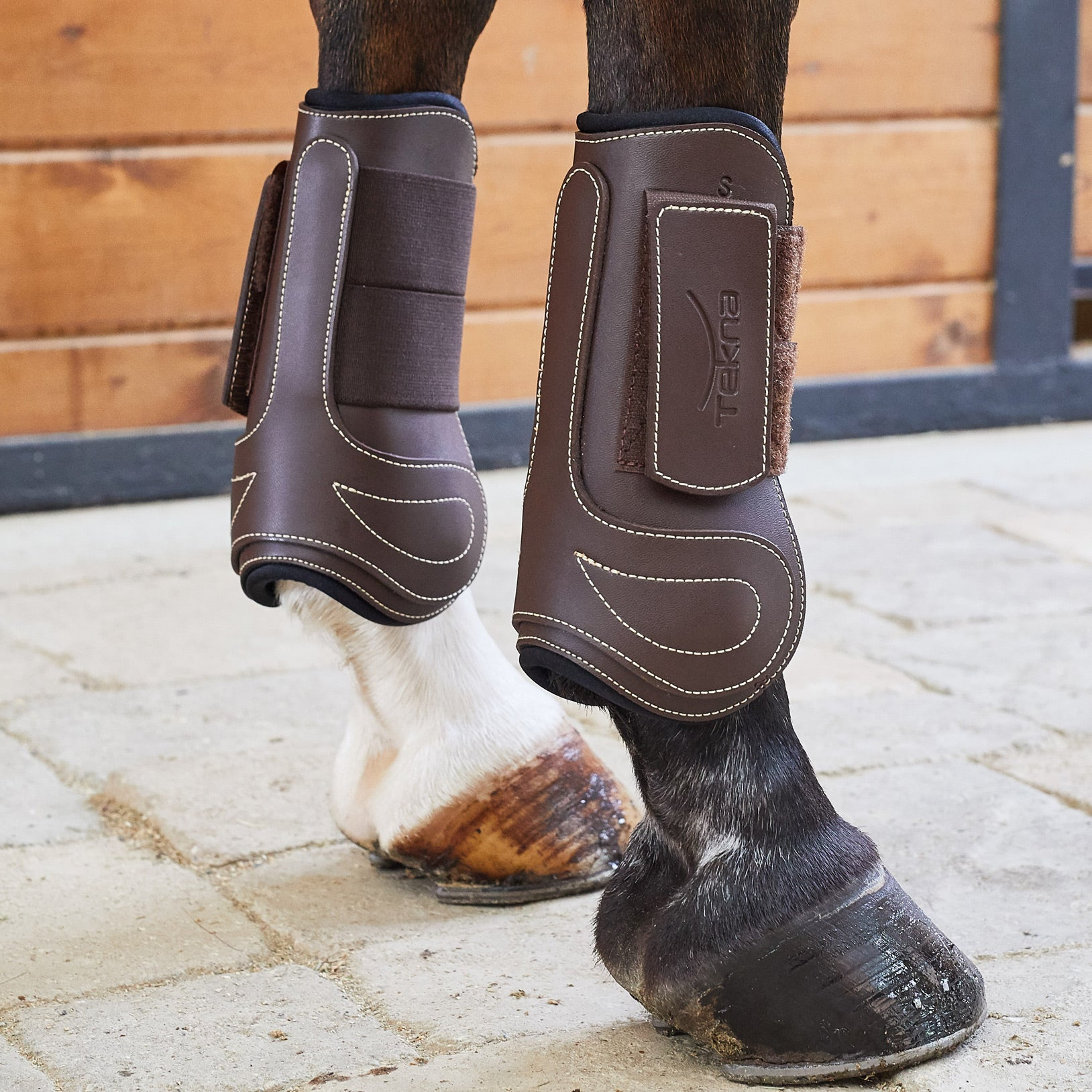 Tekna Fancy Stitched Hind Jump Boots with Neoprene Padding Quik-Clean