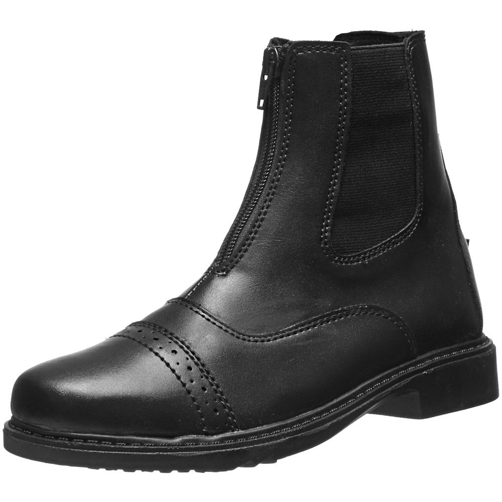 Tuffrider Children/'s Starter Front Zip Paddock Riding Boots with Punched Toe Cap