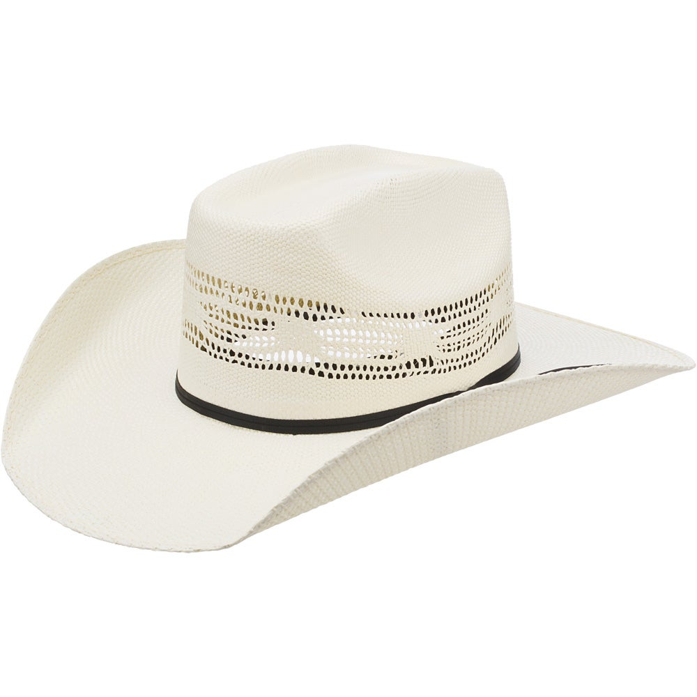 Bangora Straw Hat: Twister Youth Kids Bangora Straw Cowboy Hat