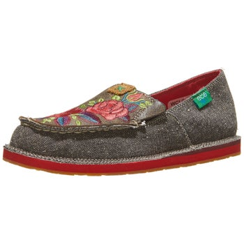 08571b30a17 Twisted X Women s ECO Driving Mocs Shoes Dust Flower - Riding Warehouse