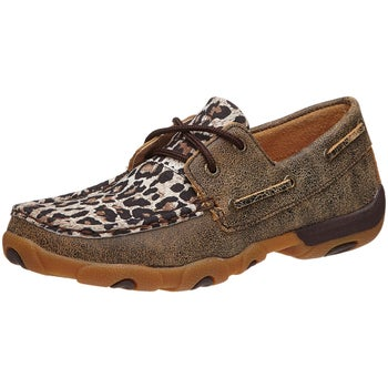 93197b6a5f1c Twisted X Women's Leopard Driving Moccasins - Riding Warehouse
