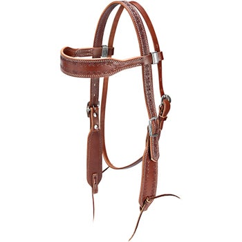Weaver Barbed Wire Browband Bridle Headstall