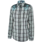 Rock 47 by Wrangler Womens Bling & Lace Western Shirt