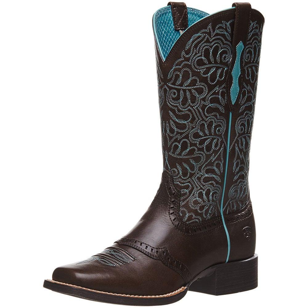 84d66566c06 Ariat Women's Round Up Remuda Dark Cowboy Boots - Riding Warehouse