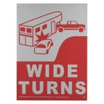 Reflective Trailer Sticker - Wide Turns