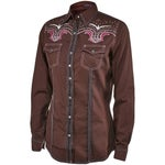 Rock 47 by Wrangler Womens Embroidered Western Shirt