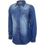 Wrangler Womens Denim Western Long Sleeve Shirt