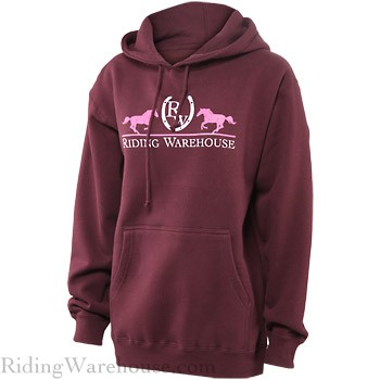 Riding Warehouse Sweatshirt Hoodie Maroon